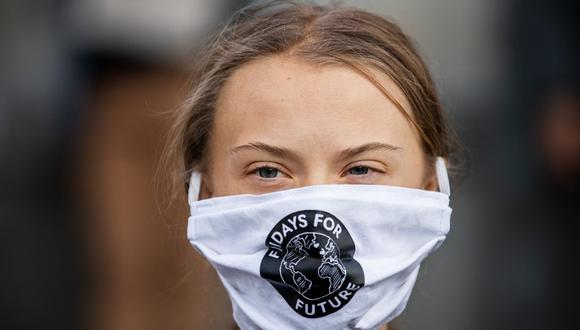 La activista sueca, Greta Thunberg. (Photo by JONATHAN NACKSTRAND / AFP).
