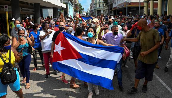 """Manifestaciones son superiores a las presenciadas en1994 frente al Malecón de La Habana, conocidas como """"el Maleconazo"""". (Foto: AFP)"""