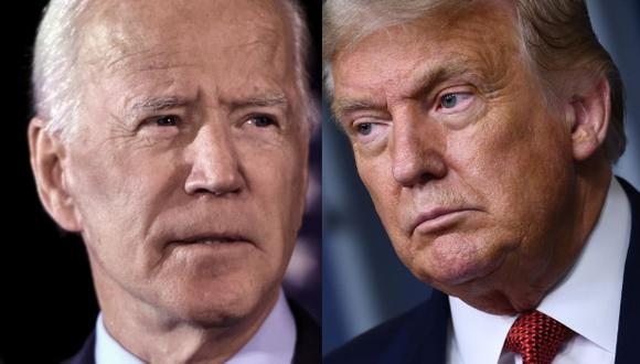 El candidato demócrata a la Casa Blanca, Joe Biden (izquierda), y el presidente republicano, Donald Trump (derecha), se enfrentan en los comicios del 3 de noviembre en Estados Unidos con dos visiones opuestas. (AFP).