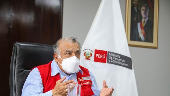 El titular del Ministerio del Transporte, Eduardo Gonzáles, estará presente en la conferencia (Foto: Andina)