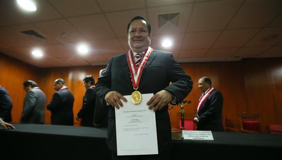 En febrero del 2016, Luis Arce Córdova juró como fiscal supremo del Ministerio Público ante el ex Consejo Nacional de la Magistratura. (Foto: Miguel Bellido / GEC)