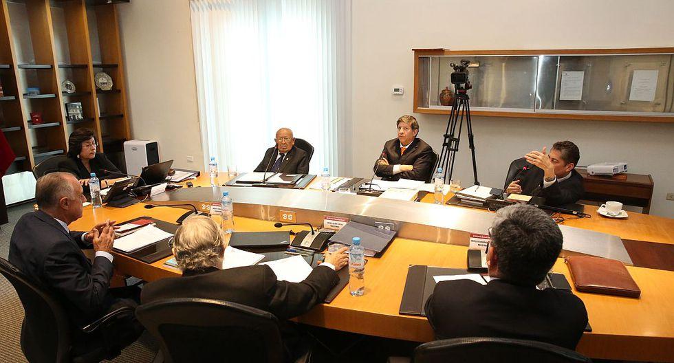 El Tribunal Constitucional difundió en vivo el debate que terminó con cuatro votos a favor y tres en contra de rechazar la demanda de Pedro Olaechea. (Foto: Difusión)