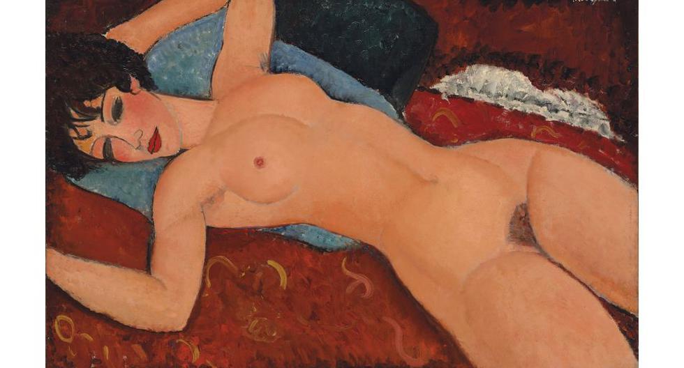 """La pintura """"Desnudo recostado"""" de Amedeo Modigliani fue vendida el lunes en US$ 170.4 millones en Nueva York, un récord para un cuadro del artista italiano y la segunda más alta alcanzada por una obra de arte en una subasta. El récord previo de"""