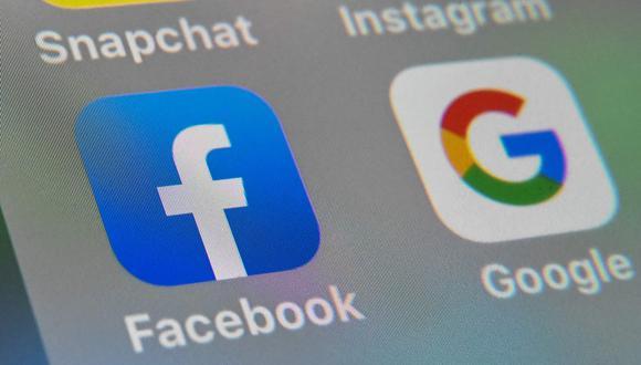 Google y Facebook. (Foto: AFP)