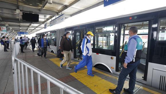 El servicio del Metropolitano no puede suspenderse debido a que se rige bajo un contrato, explicó el MTC. (Foto: Diana Marcelo/GEC)