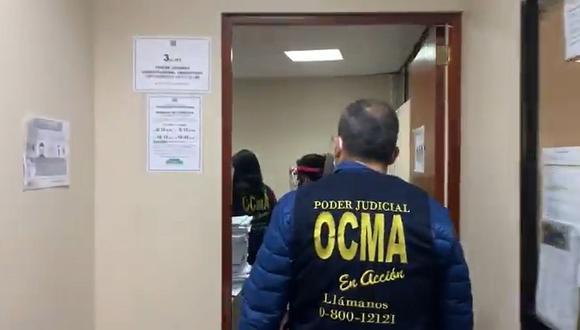 Personal de la OCMA visitó el despacho de la jueza que ordenó suspender la elección del TC en el Congreso de la República el último miércoles. (Foto: Poder Judicial)
