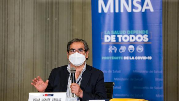 Óscar Ugarte, ministro de Salud, indicó que la vacunación con las dosis de Pfizer se iniciará en Lima. (Foto: PCM)