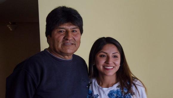 Evo Morales y su hija, Evaliz Morales Alvarado. (Foto: Difusión)