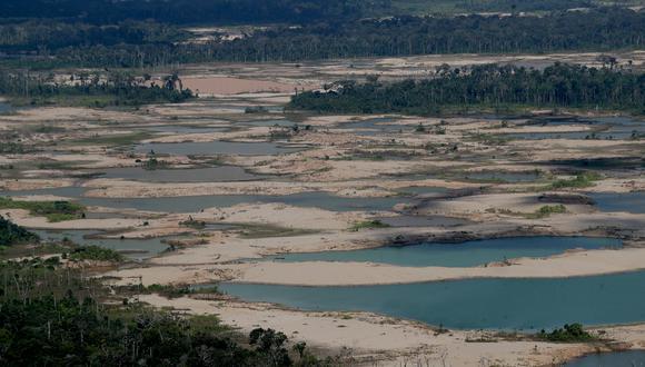 """Desde 2020 se han identificado nuevos focos de minería ilegal en """"La Pampa"""". (Foto: GEC)"""