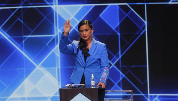 Verónika Mendoza aseguró que ha podido sustentar sus propuestas durante el Debate Presidencial del JNE. (Foto: Anthony Niño de Guzmán/GEC)