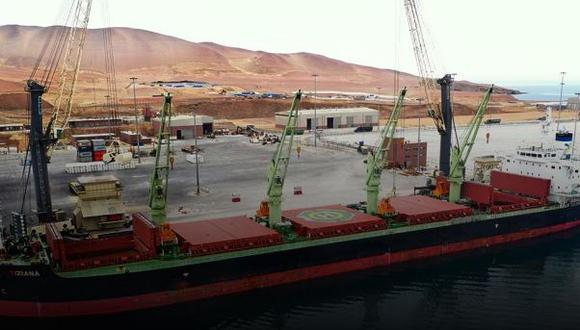 Según informó la empresa, está previsto que el buque fletado llegue al puerto de Pisco el 11 de agosto.  (Foto: Strike Resource)