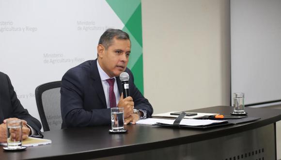 Gustavo Mostajo, ministro de Agricultura. (Foto: USI)