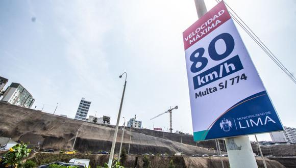La Municipalidad de Lima señaló que el nuevo límite de velocidad comprende a los distritos de Magdalena y San Miguel. (Difusión)