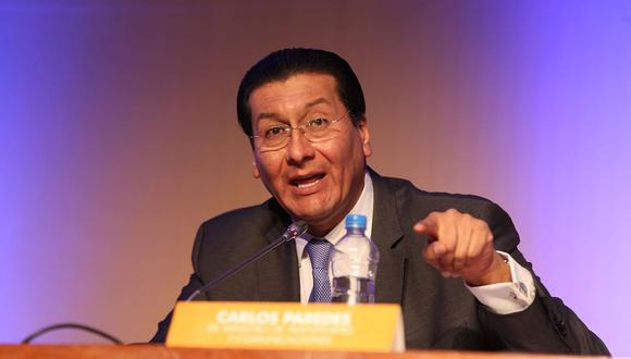 Carlos Paredes y otros tres exministros fueron incluidos en la investigación del caso Gasoducto Sur Peruano. (Foto: Andina)