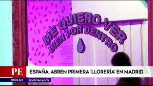 """Inauguran """"Llorería"""" para que jóvenes lloren y traten su salud mental en España"""