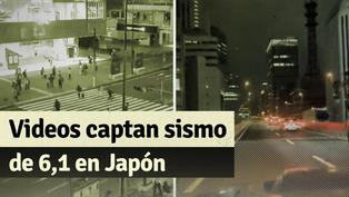 Sismo de 6,1 sacude Japón: estos son los videos de como se vivió en Tokio