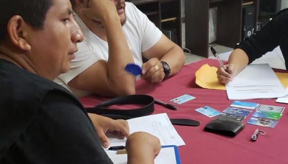 Los hermanos Jorge y Frank Chávez Sotelo, asesores legales de la comunidad de Fuerabamba.