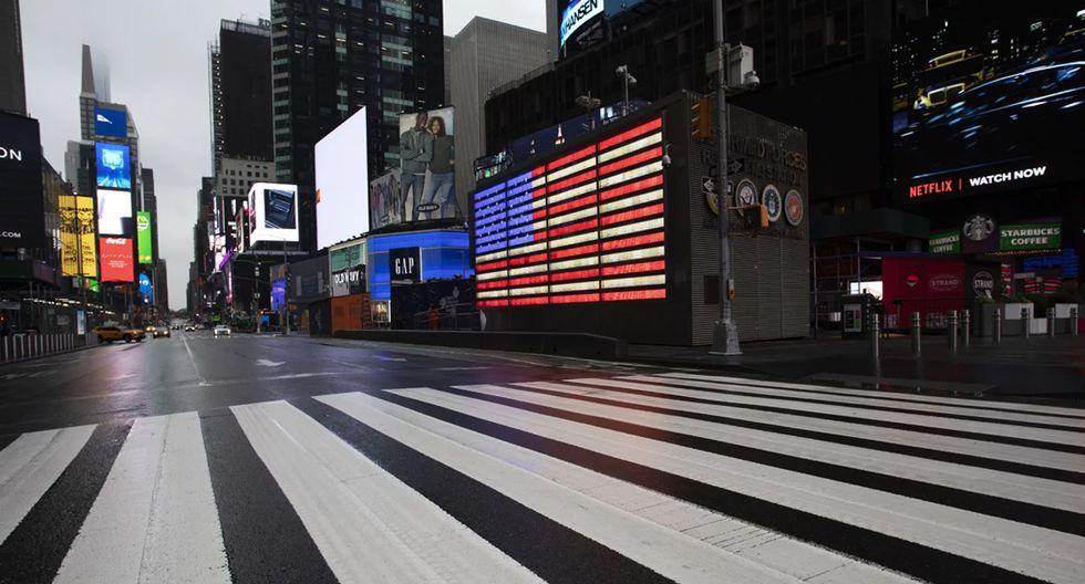 FOTO 5 | Times Square vacío, una imagen insólita (Foto: AP)