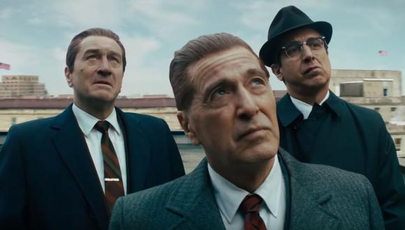 """""""The Irishman"""" cuenta con el talento de Al Pacino y Robert De Niro. (Foto: Netflix)"""