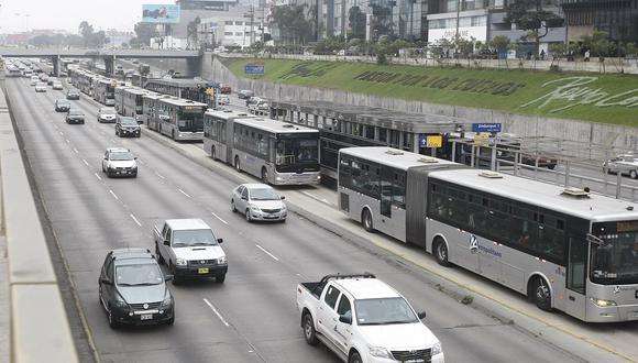 La ATU recodó que lo usuarios del transporte urbano deberán usar protector facial y mascarilla. (Foto: Mario Zapata/GEC)
