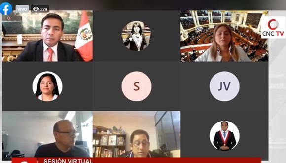 Comisión de Ética Parlamentaria desestimó pedido de reconsideración presentado por César Gonzales Tuanama. (Foto: Captura TV del Congreso)