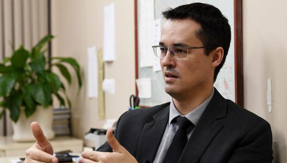 Deltan Dallagnol, coordinador de la mayor operación anticorrupción de la historia de Brasil. (Foto: AFP)