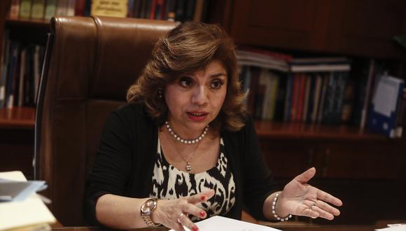Fiscal de la Nación, Zoraida Ávalos, también se refirió a la investigación contra el expresidente Martín Vizcarra por el 'Vacunagate'. (Foto: GEC)