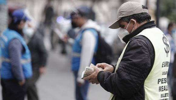 El tipo de cambio se cotizó al cierre del jueves en S/ 4.1060 por dólar en el mercado interbancario, una caída de 0.11% en comparación a los S/ 4.1100 del cierre del miércoles, según datos del BCR. (Foto: Cesar Campos / GEC)