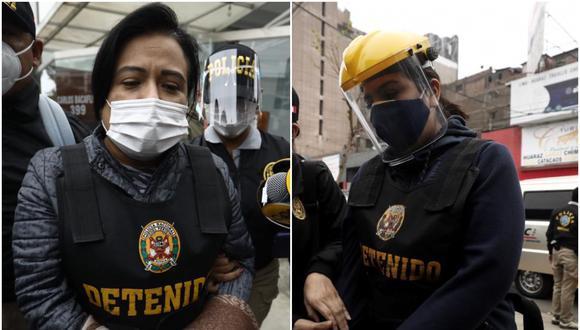 Mirian Morales y Karem Roca fueron detenidas el pasado viernes 2 de octubre por el caso Richard Swing'. (Foto: GEC)