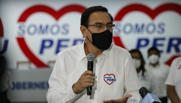"""El expresidente Vizcarra indicó que si no se posterga el proceso electoral igual participará del mismo, pero consideró que """"habrían grandes problemas"""" para su realización. (Foto: GEC)."""