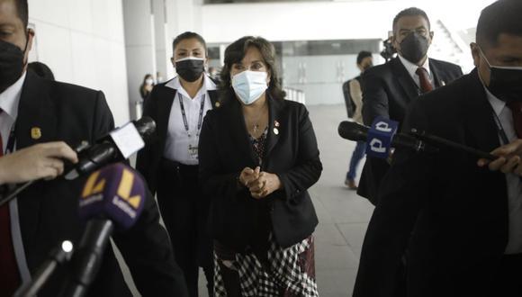 Dina Boluarte aseguró que el Gobierno respeta la democracia y al Parlamento. (Foto: GEC).