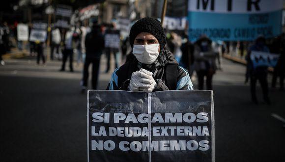 La deuda pública argentina es de unos US$ 324,000 millones, casi el 90% del Producto Bruto Interno (PBI). (Foto: AFP)
