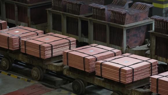 El contrato de cobre al contado en la LME promediaría US$ 8,800 la tonelada en el tercer trimestre, mostró la mediana de las proyecciones de 25 analistas, un 11% menos que el precio de cierre del miércoles. (Foto: Bloomberg)