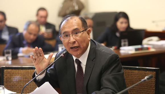 El presidente del JNE, Víctor Ticona, se presentó ante la Comisión de Presupuesto del Congreso. (Foto: Congreso).