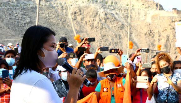 """Keiko Fujimori dijo esperar """"que mañana o pasado mañana"""" pueda recibir una respuesta del Poder Judicial a su pedido para viajar al interior del país en el marco de la segunda vuelta electoral."""