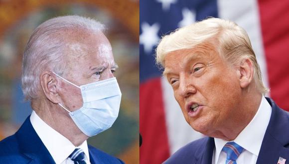 Trump y Biden debían enfrentarse el jueves por la noche en un escenario en Miami, pero ese acto fue anulado cuando Trump contrajo el coronavirus. (Foto: AFP).