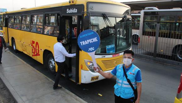 Más de 115 vehículos fueron puestos a disposición para atender demanda del servicio de alimentadores del Metropolitano. (Foto: ATU)