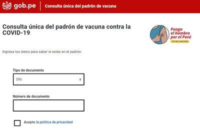Pongo el hombro: cómo saber si estoy en el Padrón Nacional de Vacunación  contra el COVID-19 nnda nnlt | PERU | GESTIÓN