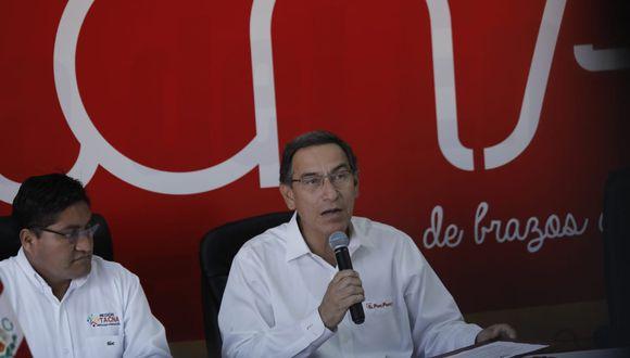 Martín Vizcarra aseguró que el ministro de Economía y Finanzas brindará mayores detalles sobre las inversiones del Midis. (Foto: Anthony Niño de Guzmán / GEC)