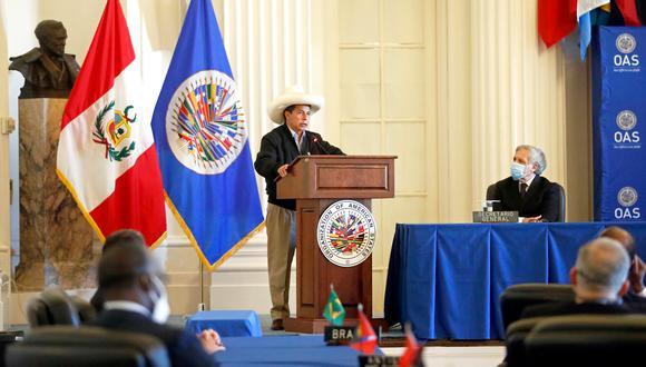 Presidente Castillo participó en sesión permanente de la OEA. (Foto: Presidencia)