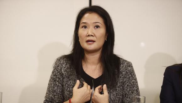 La lideresa de Fuerza Popular indicó que su bancada respaldará que se convoque a pleno a fin de que se destituya a Merino del cargo de presidente.  (Foto: GEC)