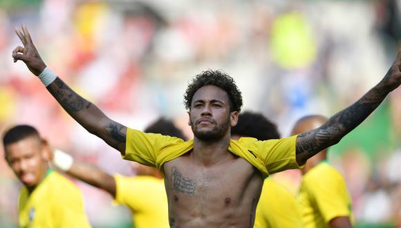 Neymar promete guiar a la favorita Brasil hacia su sexto campeonato Mundial. (Foto: AFP)