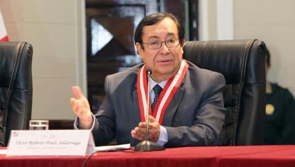 El juez supremo Víctor Prado Saldarriaga fue presidente del Poder Judicial entre julio y diciembre del 2018. (Foto: Poder Judicial)