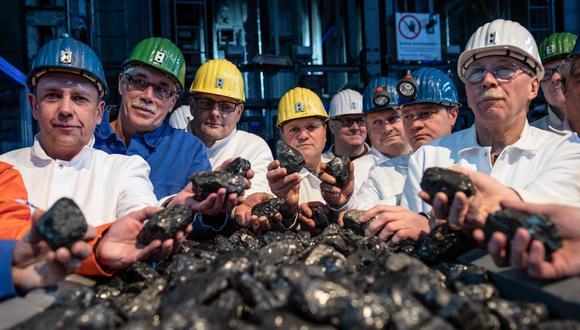 Mineros de la ultima mina de carbón de Alemania. (Foto: AFP).