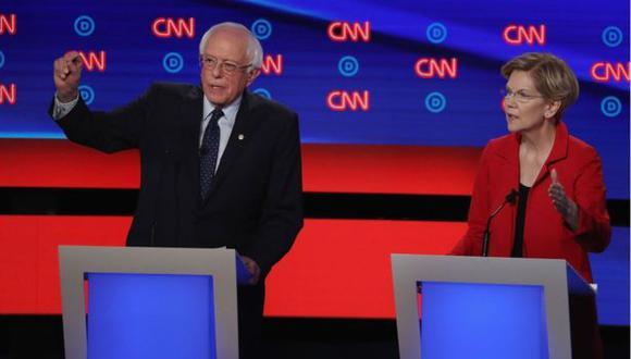 Elizabeth Warren y Bernie Sanders. (Foto: Difusión)