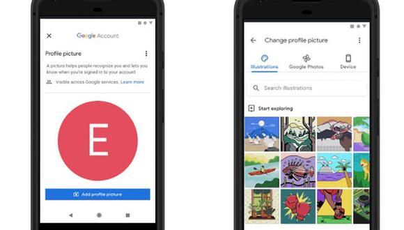 Los diseños personalizables pueden utilizarse como imagen de perfil en todos los productos de Google. (Foto: Google)