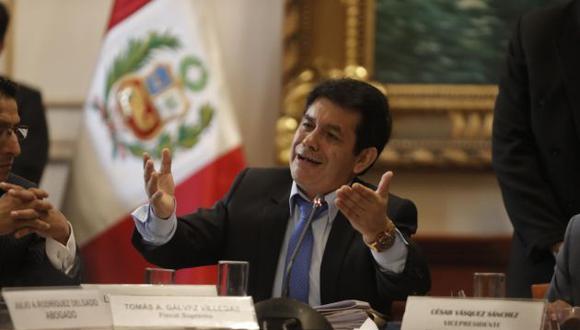 """El fiscal Tomás Gálvez indica que el Pablo Sánchez habría cometido una infracción """"al artículo 39° y al artículo 159 de la Constitución"""". (Foto: Renzo Salazar/Gec)"""