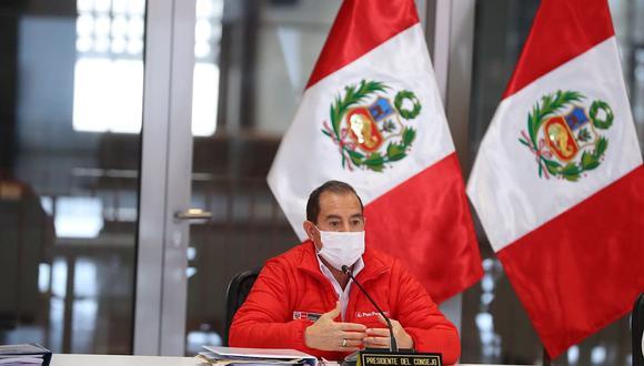 Walter Martos señaló que este lunes 12 de octubre a las 10:00 a.m. se reunirá con los alcaldes distritales y con la autoridad edil Jorge Muñoz para evaluar estas medidas en beneficio de la ciudadanía. (Foto: PCM)
