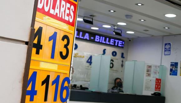 En el mercado paralelo o casas de cambio de Lima, el tipo de cambio se cotiza a S/ 4.090 la compra y S/ 4.120 la venta por cada dólar. (Foto: Fernando Sangama / GEC)