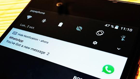 Conozca cómo ocultar todas las notificaciones de WhatsApp en su celular para que no se vean en la pantalla. (Foto: WhatsApp)